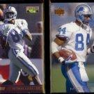 HERMAN MOORE 1995 Classic Pro Line #II-36 + 2000 UD #79.  LIONS