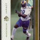 MARSHALL FAULK 1999 UD SP Authentic Maximum Impact Insert #MI-3.  RAMS