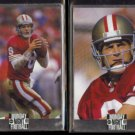 STEVE YOUNG (2) diff. 1994 Action Packed MNF PROTOTYPE Inserts.  49ers
