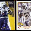 ANTONIO GATES 2015 Topps Fire #9 + 2013 Topps Magic #77.  CHARGERS