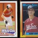 ROBIN VENTURA 1989 Topps Draft #764 + 1990 Topps #121.  WHITE SOX