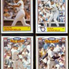 DAVE WINFIELD (4) Card Topps All Star Glossy Lot (1986 - 1989).  YANKEES