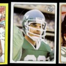 MARK GASTINEAU (3) Card Topps mini Sticker Lot (1982 + 1983)  JETS