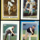 ROGER CLEMENS (4) Card Topps Glossy mini Odd Lot (1987 - 1990).  RED SOX