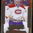CAREY PRICE 2012 Upper Deck MVP GOLD Signature Insert #25.  CANADIENS
