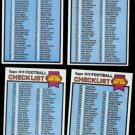 1979 CHECKLIST Lot (4) Cards (1 - 528) Nice shape - Unchecked