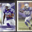 MARVIN HARRISON 2004 UD SPX #42 + 2008 UD Masterpieces #62.  COLTS