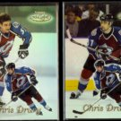 CHRIS DRURY (2) diff. 2000 Topps Gold Label #48.  AVALANCHE