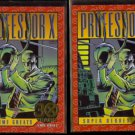 PROFESSOR X 1993 Skybox Marvel (30 Years Gold Stamp) #G-5 w/ sister #23.