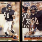 MIKE SINGLETARY 1991 Pro Set #5 + 1991 Pro Set #458.  BEARS