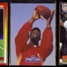 JERRY RICE (3) Card Lot (1990 + 1991).  49ers
