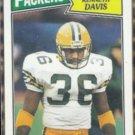 KENNETH DAVIS 1987 Topps #352.  PACKERS