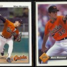 MIKE MUSSINA 1992 Upper Deck #675 + 1993 Donruss #427.  ORIOLES
