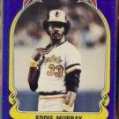 EDDIE MURRAY 1981 Fleer Star Sticker #117.  ORIOLES