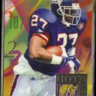 RODNEY HAMPTON 1994 Flair Hot Numbers Insert #5 of 15.  GIANTS