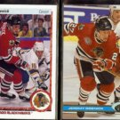 JEREMY ROENICK 1990 Upper Deck #63 + 1991 Stadium Club #46.  BLACKHAWKS