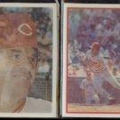 PETE ROSE 1986 Sportflics #50 + 1987 Sportflics #25.  REDS