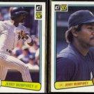 JERRY MUMPHREY 1982 Donruss #261 + 1983 Donruss #360.  YANKEES