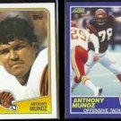 ANTHONY MUNOZ 1988 Topps #345 + 1989 Score #96.  BENGALS