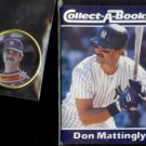 DON MATTINGLY 1989 Topps Coin + 1990 JBC Collect-A-Book.  YANKEES