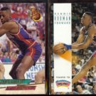 DENNIS RODMAN 1993 Ultra #170 + 1993 Skybox #70.  Traded to Spurs / PISTONS