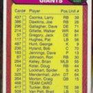NY GIANTS 1976 Checklist #468.  CSONKA