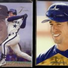JEFF BAGWELL 1993 Flair #57 + 1996 Pinnacle #10.  ASTROS
