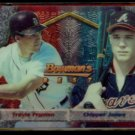 CHIPPER JONES 1994 Bowman's Best #108 w/ Travis Fryman.  BRAVES
