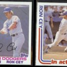 RON CEY 1982 Topps #410 + 1982 Topps In Action #411.  DODGERS