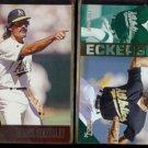 DENNIS ECKERSLEY 1996 Leaf #2 + 1994 Select #245.  A's