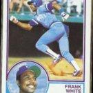 FRANK WHITE 1983 Topps #525.  ROYALS