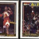 KEVIN WILLIS 1992 Topps GOLD Insert + 1992 Gold All Star Insert.  HAWKS