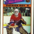 PATRICK ROY 1988 Topps All Star Sticker #12.  CANADIENS