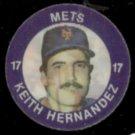 KEITH HERNANDEZ 1984 Slurpee Pog/Disk Odd #24 of 24.  METS