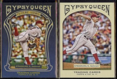STEPHEN STRASBURG 2011 Topps Gypsy Queen Future Stars Insert + 2011 Gypsy Queen.  NATS