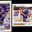 PAT LaFONTAINE 1990 Upper Deck #246 + 1991 UD #253.  ISLANDERS