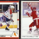 DINO CICCARELLI 1990 Score #230 + 1992 OPC Premier #44.  CAPITALS / RED WINGS