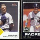 MARK KOTSAY 2003 Fleer Tradition #273 + 2002 UD Vintage #230.  PADRES