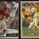 DAVE KRIEG 1993 Playoff #87 + 1993 Fleer #455.  CHIEFS