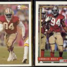 CHARLES HALEY 1992 Pacific #280 + 1992 Topps #493.  49ers