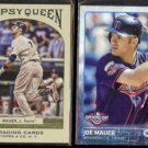 JOE MAUER 2011 Topps Gypsy Queen #31 + 2015 Topps Opening Day #68.  TWINS