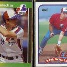 TIM WALLACH 1989 Donruss #156 + 1989 Topps #720.  EXPOS