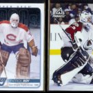 PATRICK ROY 2012 UD Heroes Insert #HH48 + 1997 Pinnacle #29.  CANADIENS / AVALANCHE