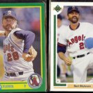 BERT BLYLEVEN 1990 Score #180 + 1991 Upper Deck #571.  ANGELS