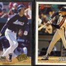 STEVE FINLEY 1994 Ultra #503 + 1993 Bowman #96.  ASTROS