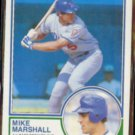 MIKE MARSHALL 1983 O-Pee-Chee #324.  DODGERS