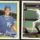 MARK GUBICZA 1989 Topps Glossy #430 + 1992 Topps Gold Winner #741.  ROYALS