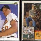 BEN McDONALD 1990 UD (error) #54 + 1993 Milkbone Superstars Insert #14 of 20.  ORIOLES