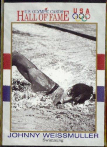 JOHNNY WEISSMULLER 1991 Impel Olympic HOF #8.