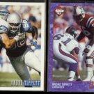 ANDRE TIPPETT 1993 Bowman #316 + 1993 Edge #136.  PATRIOTS